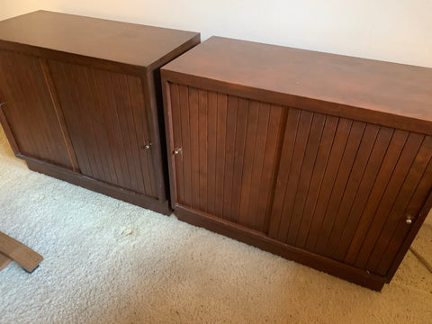 Credenza cabinets w sliding doors 17562