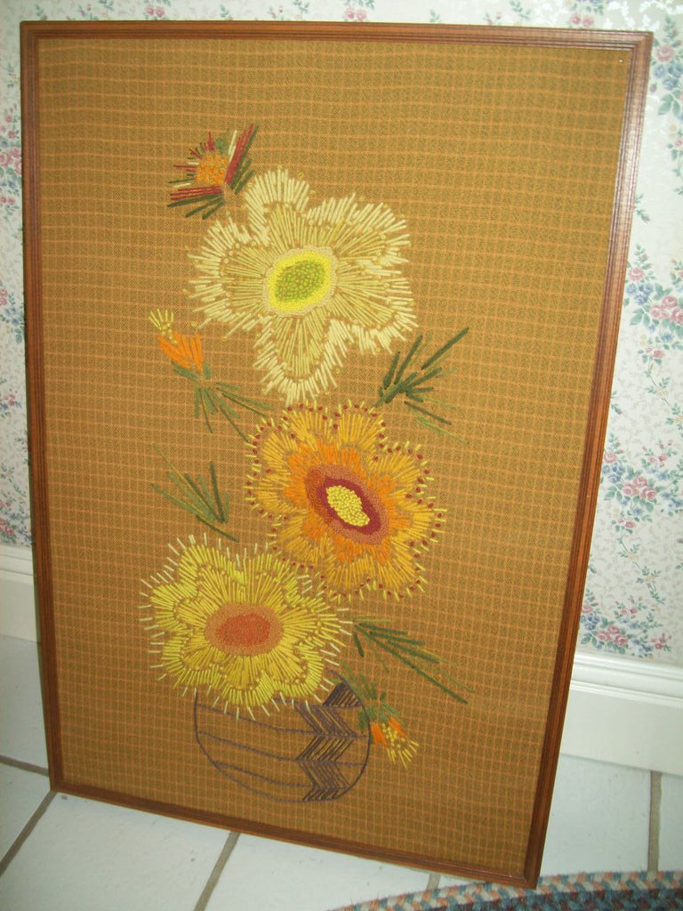 Picture flower cloth/stitched 8457