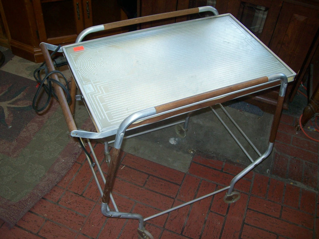 Warming tray table on casters 8980