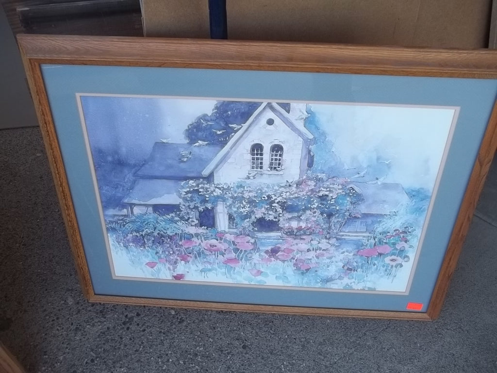 Framed picture house flowers 9140