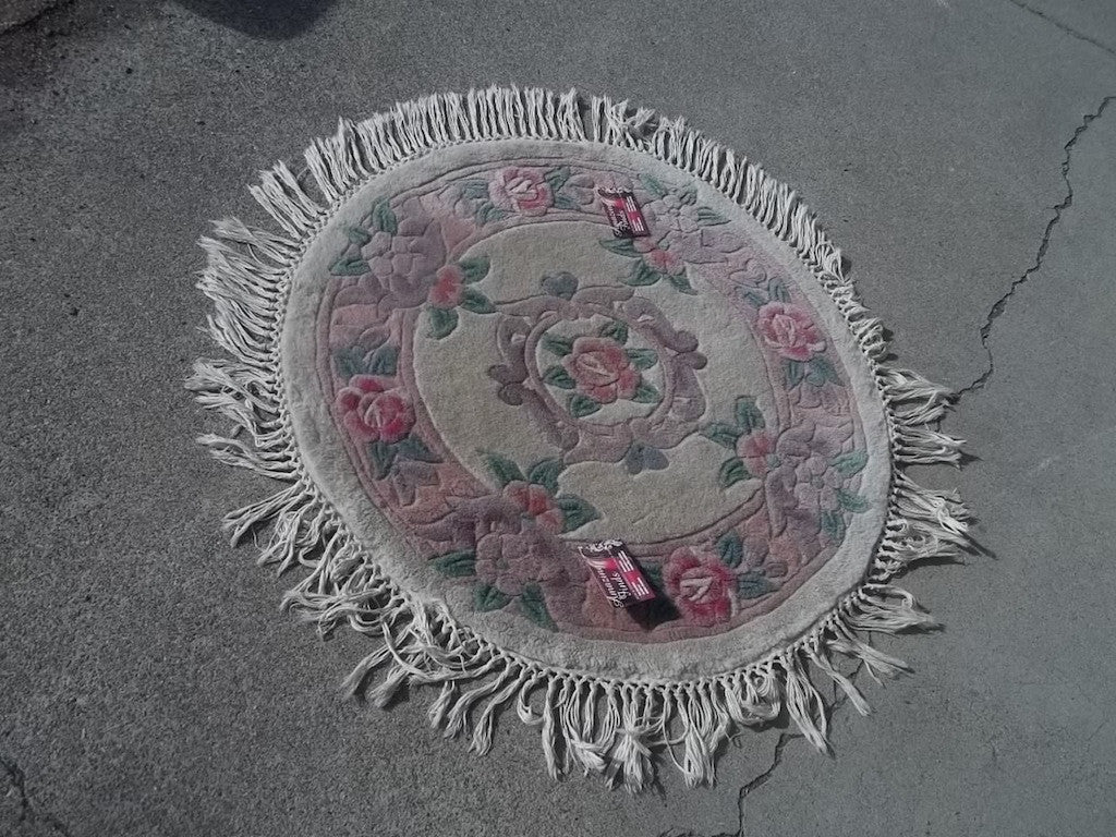 Picture of: Area Rug Round 3 Feet Aubisson Beige Pink Wool 9434 Amazing Finds Red Bluff