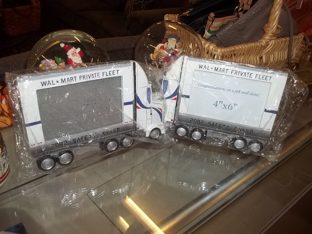 Wal-mart Safety Award semi truck picture frame set 9792
