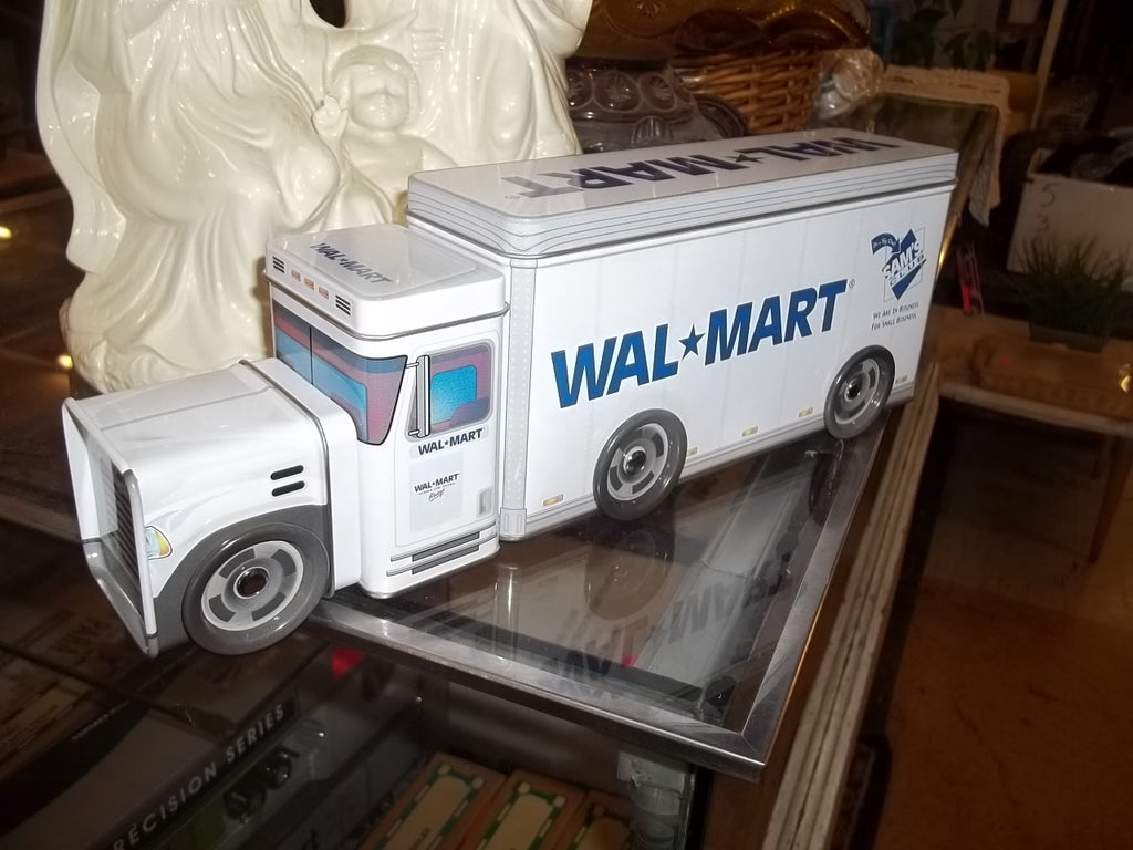 Wal-mart toy collectible semi truck tractor cab with trailer model replica 10032