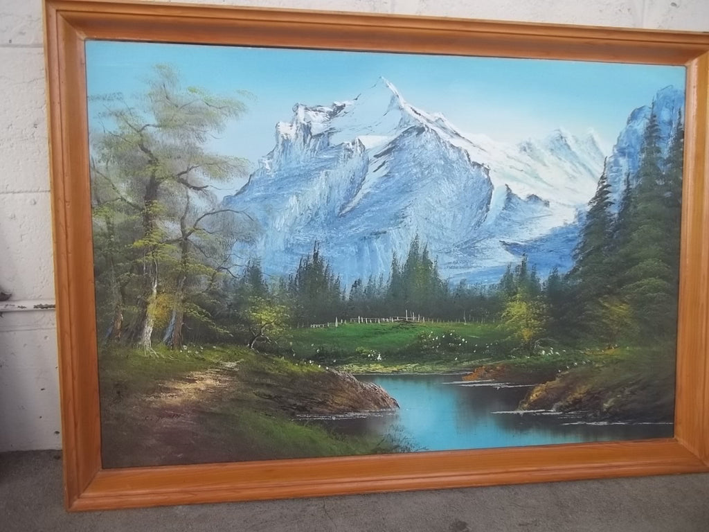 Mt. Shasta framed painting 10340
