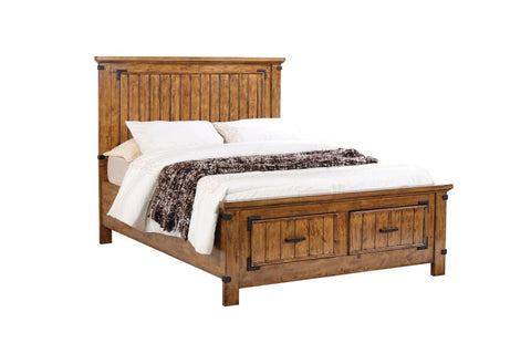 Brenner full storage bed with dovetail drawers rustic honey CO-205260F