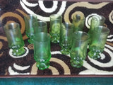 Green glass cups 11789