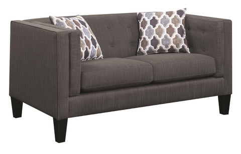 Sawyer modern loveseat with track arms NEW by Scott Living, Coaster CO-506192