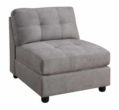 Claude modular sectional armless chair dove grey NEW CO-551004