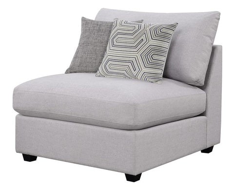 Charlotte sectional sofa armless chair grey/gray NEW CO-551511