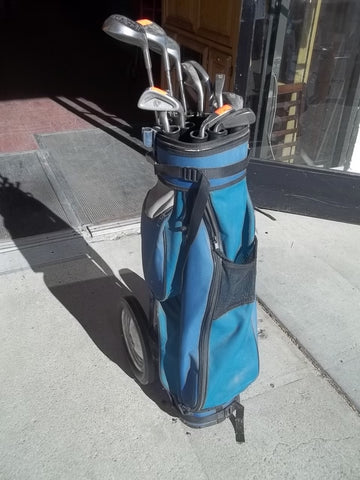 Golf clubs set in bag 12445