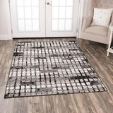 Area rug contemporary style grey 8x10 NEW by Coaster CO-970226L