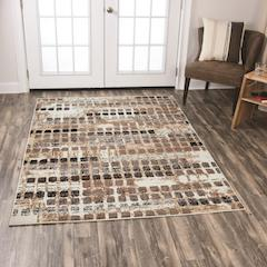 CLEARANCE 50% OFF Area rug contemporary style neutral browns 5x7 NEW by Coaster CO-970229