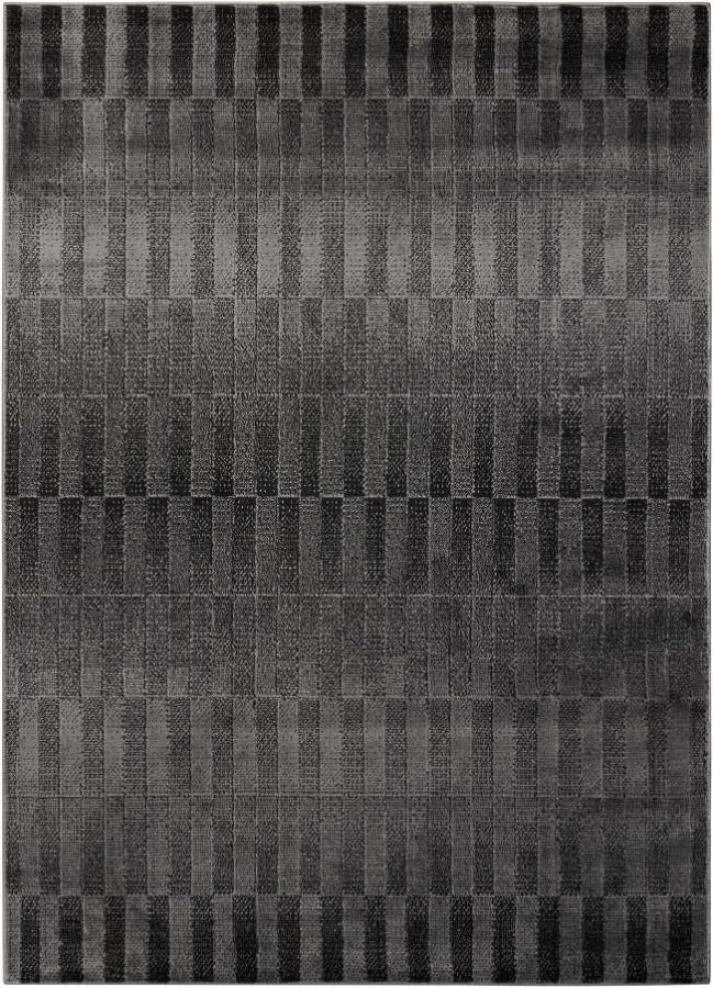 CLEARANCE SALE 50% OFF Area rug contemporary style charcoal 5x7 NEW by Coaster CO-970247