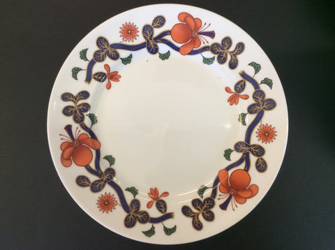 Royal Worcester Grainger Imari - Orange & Blue Floral - Salad Plate 20007 121
