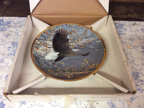 Hamilton Collector Plate Autumn Mountains Seasons The Bald Eagle Series 20042 121