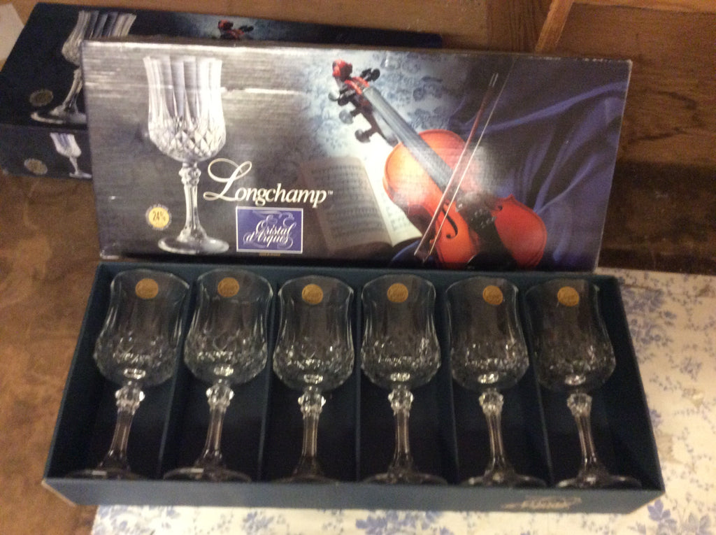 NEW Arc International Cristal D'Arques Longchamp Wine Glasses 6pc set 20025 121