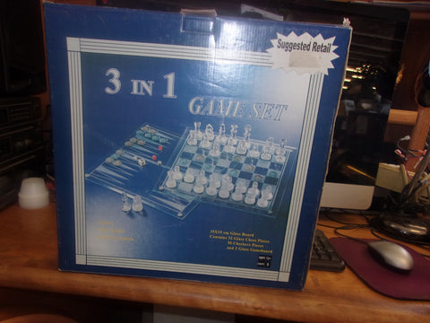 3 in 1 glass game set 13434