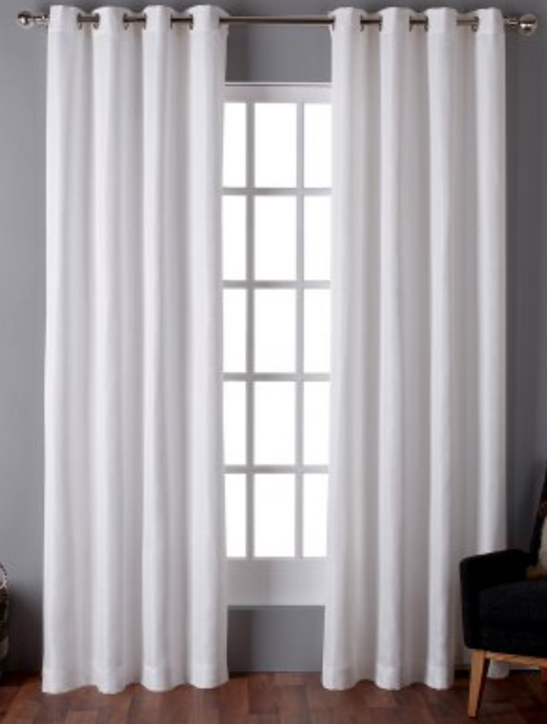 Exclusive Home Virenze Grommet Curtain Panel Pair Color Winter White 20126 121