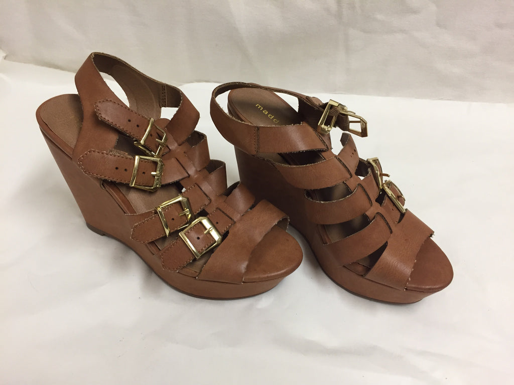 Madden Girl Kloverr Platform Wedge Sandals Size 8.5 20119 121