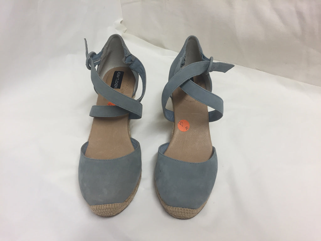 Adam Tucker Size 9.5 Blue Turquoise Wedge Sandles/ Shoes Heel Style 20108 121