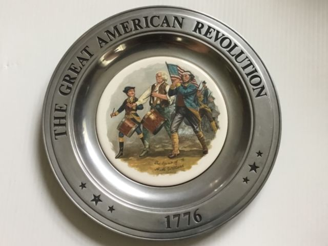 The Great American Revolution Bi-Centennial Pewter Collector Plate 20063 121