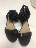 Kenneth Cole Womens Size 11 M Slaw-ter Black Heels Wedges Shoes Black 20296 121