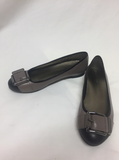 Naturalizer Orion Gray Flats w/ Buckle Toe Womens Size 6.5 M Shoes 20298 121
