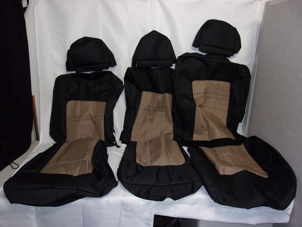 Brown and Black Seat Covers Set of Three 20305 121