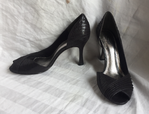 Adrianna PapellBlack Moiret Metallic Womens Size 6M Shoes Heels 20215 121