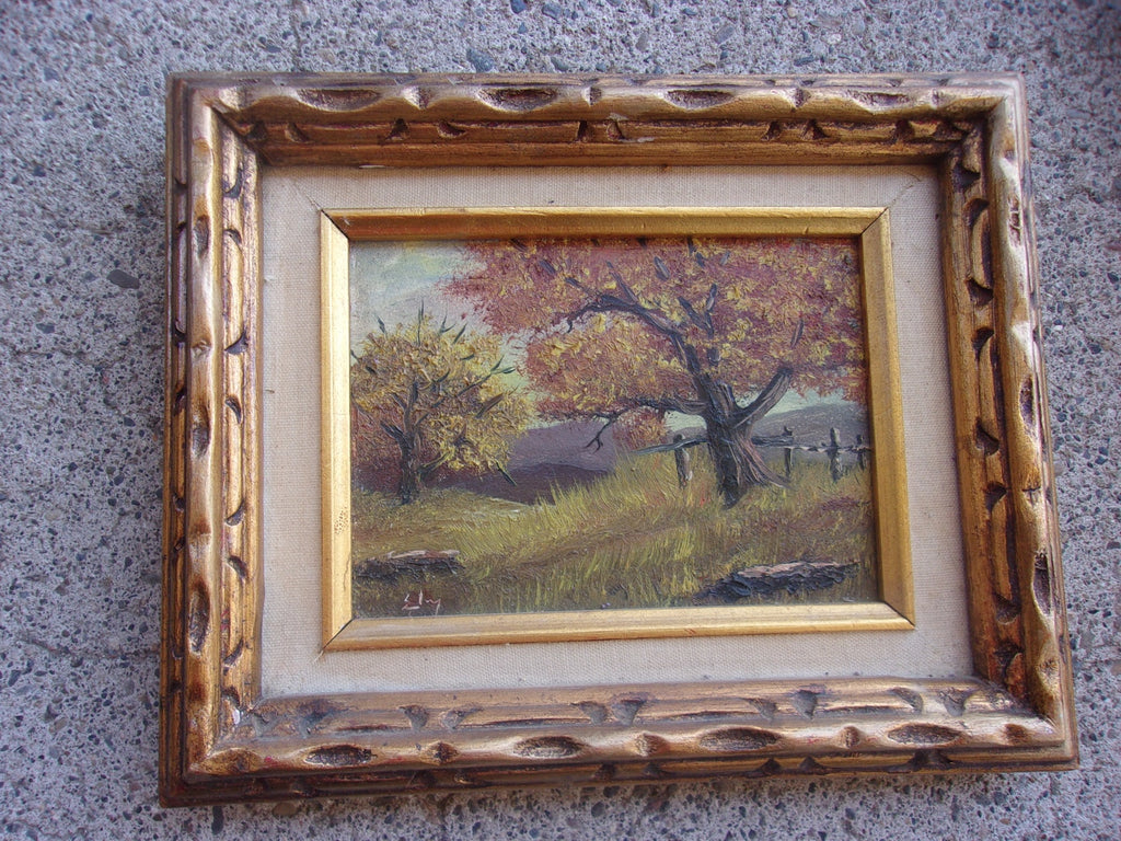 Oil painting small wood frame 16118
