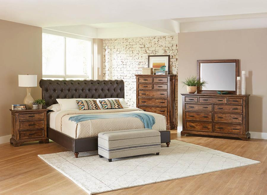 CLEARANCE 50% OFF Gresham upholstered bed Cal/California king NEW CO-301097KW