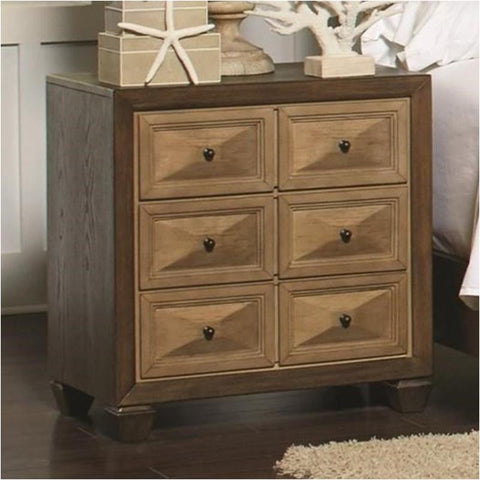 CLEARANCE 50% OFF Wheatland nightstand in honey/walnut finish by Coaster NEW CO-204602