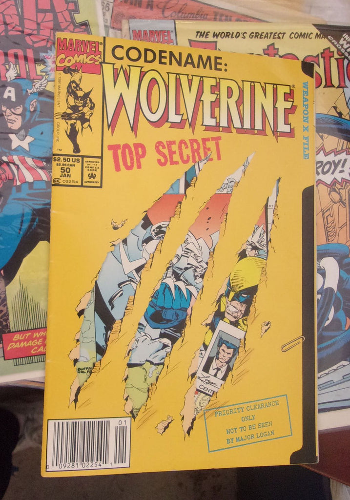 Comic book Codename Wolverine Top Secret 16545