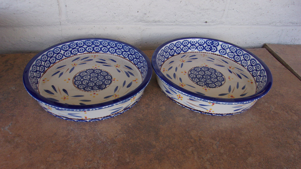 Temptations Old World blue pies pan 16374