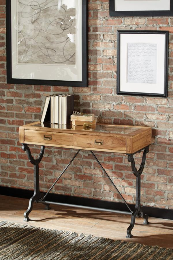 CLEARANCE Console table natural/black by Coaster NEW CO-953231