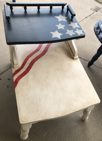 American flag themed end table 18058