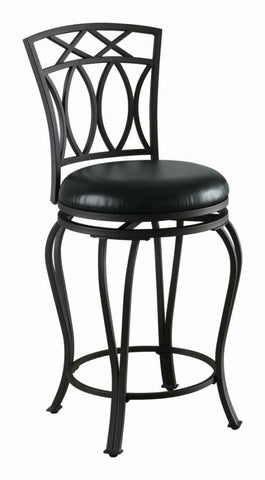 Swivel counter height stool, black 24 inch seat height NEW CO-122059