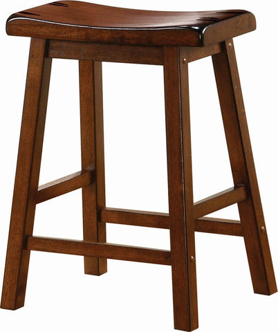 Counter height stool, chestnut finish, 24 inch seat height NEW CO-180069