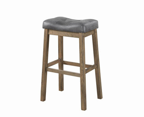 Barstools, grey seats, driftwood finish, 30 inch seat height NEW CO-121520