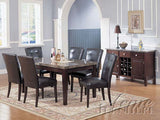 Danville dining table TOP ONLY black marble AC-07058
