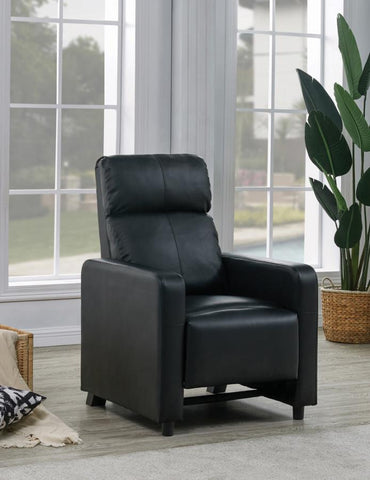 Black Toohey push back recliner leatherette NEW CO-600181
