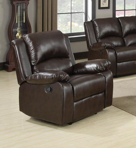 Boston recliner dark brown leatherette NEW CO-600973