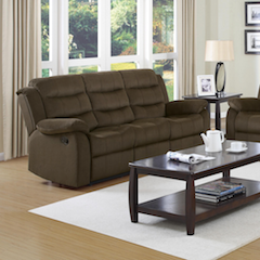 Brown/olive Rodman motion reclining sofa couch NEW CO-601881