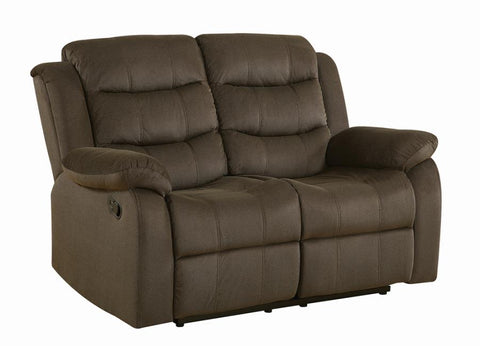 Brown/olive Rodman motion reclining loveseat NEW CO-601882