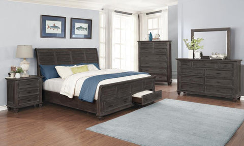 Atascadero 5pc bedroom set w/ platform bed queen, nightstand, dresser, mirror, chest grey/gray finish NEW CO-222880Q-S5