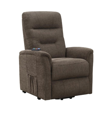 Brown power lift massage recliner NEW CO-609404P