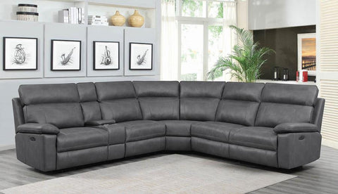 Albany power 2 sectional sofa grey/gray NEW CO-603270PP