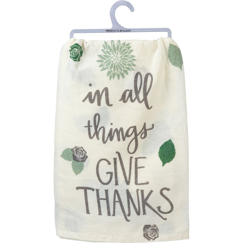 Dish Towel - Give Thanks Primitives by Kathy NEW PK-103703