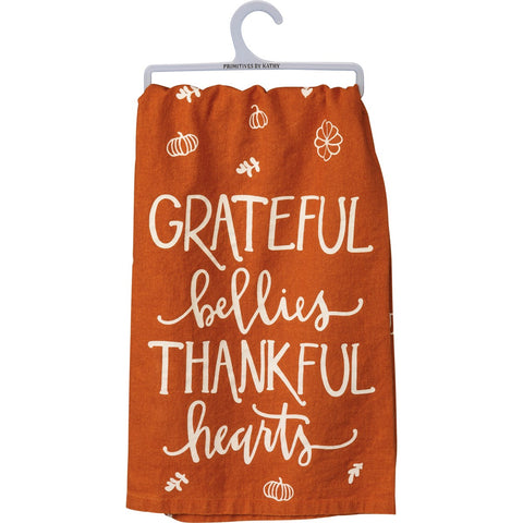 Dish Towel - Grateful Bellies Primitives by Kathy NEW PK-106430