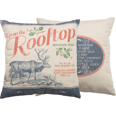 Pillow - Up On The Rooftop Primitives by Kathy NEW PK-27825